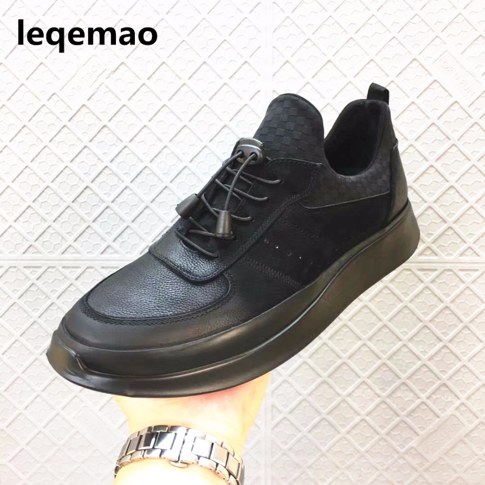 New Arrival Spring Autumn Fashion Luxury Brand Men Casual Shoes Oxford Genuine Leather High Quality Lace-up Comfortable Shoes 43 the autobiography of fidel castro