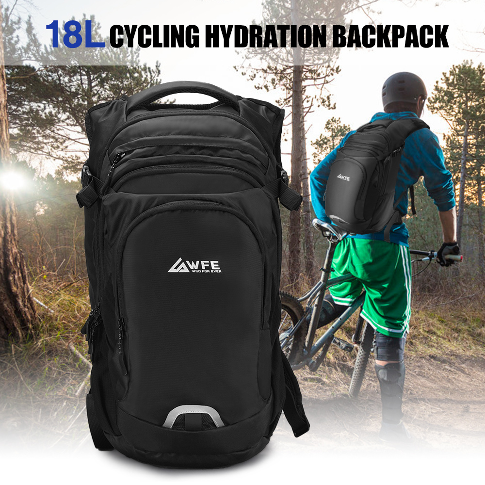 US $24.8 38% OFF|18L Cycling Backpack Hydration Pack Breathable Daypack Camping Running Marathon Hydration Backpack Rain Cover Hiking