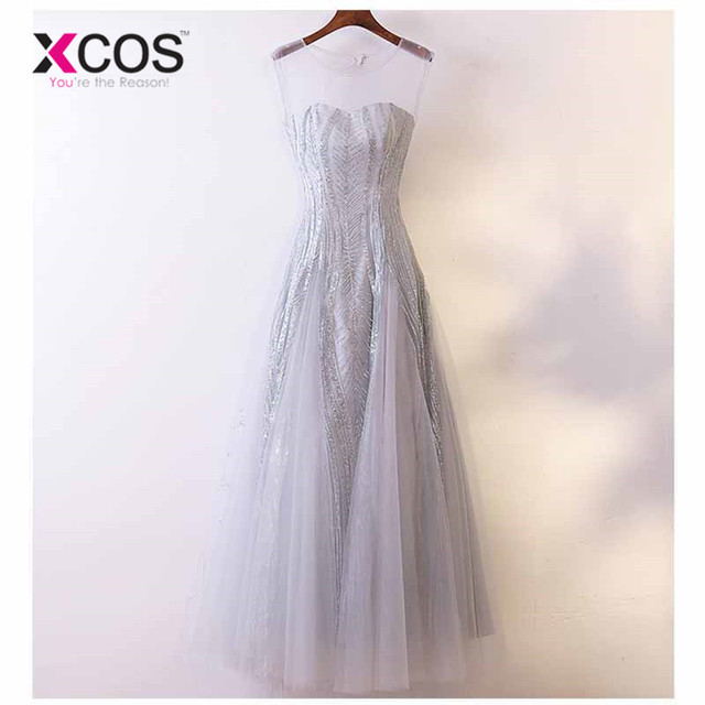 US $51 3 10% OFF|XCOS Bling Silver Pink Bridesmaid Dresses for Wedding  Party Tulle Vestidos Largos Long Women's Gown Alibaba Online Shopping-in