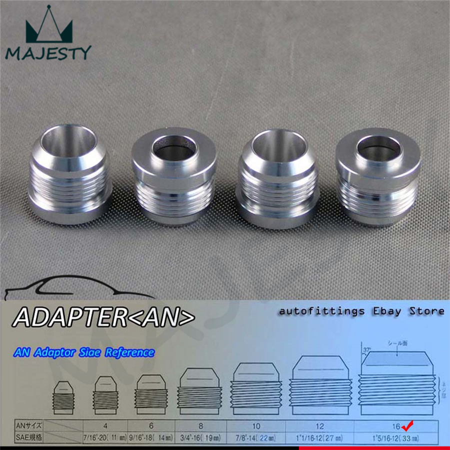 Flight Tracker 4pcs Aluminum Male Weld Bung Adapter Fitting 16 An /16an Automobiles & Motorcycles