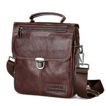 2018 Business Men's Shoulder Bags Brand Genuine Leather Male Menssenger Bags Men's Luxury Cow Leather Handbags Men Crossbody Bag цена в Москве и Питере