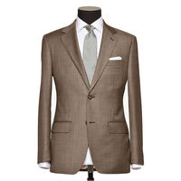 TR Fabric Beige Color Man S Custom Tailor Made Casual 2 Buttons Suit Bespoke Tailor Made