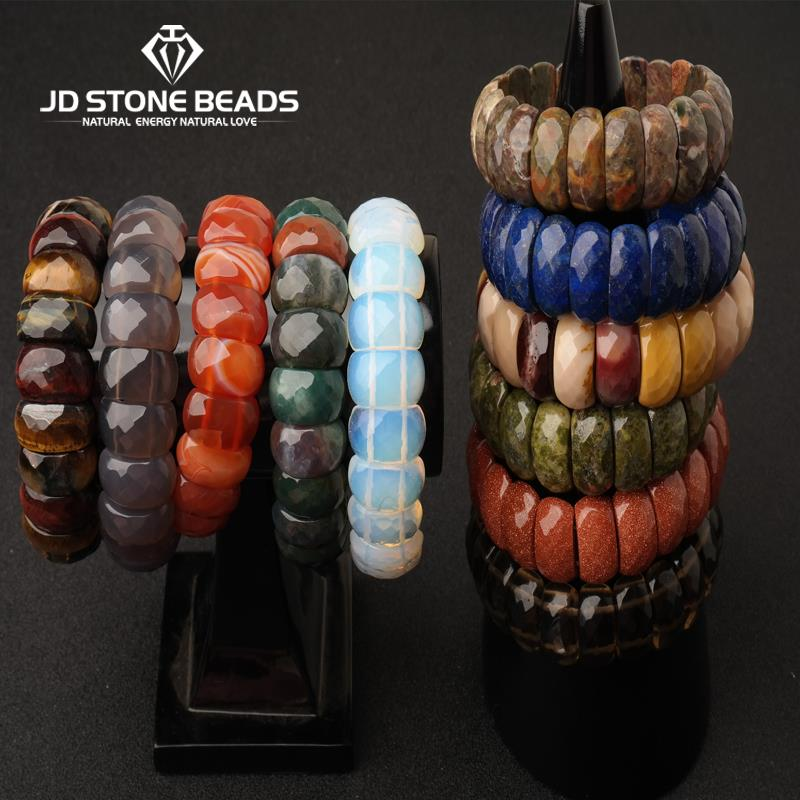 Natural Amethyst Stone Bracelets Hand Row for Women Girl Gift Fresh Single Lap Fashion Crystal Bracelet Jewelry JD stone beads