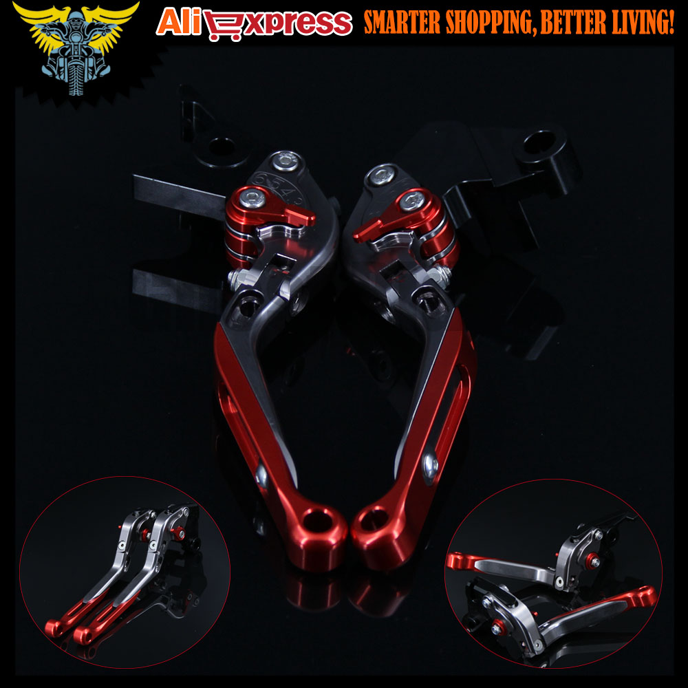 Red+Titanium Adjustable Folding Motorcycle Brake Clutch Levers For Honda CB1000R 2008 2009 2010 2011 2012 2013 2014 2015 2016 aluminum alloy new long folding billet adjustable brake clutch levers for honda xl1000 xl 1000 varadero 2009 2013 2010 2011 2012