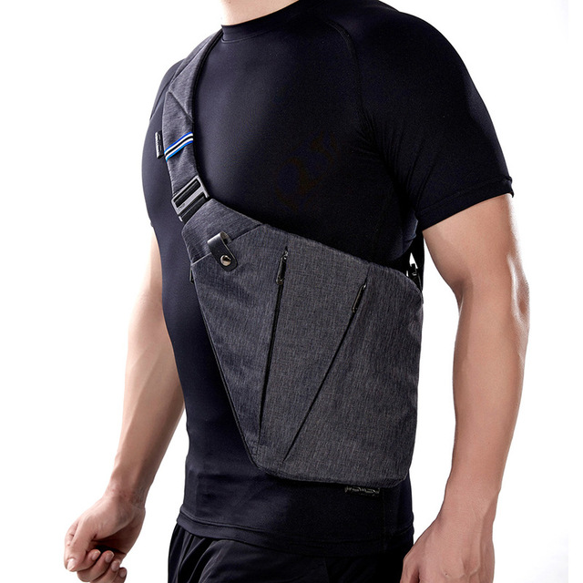 NewBring Compact Single Shoulder Bags for Men Waterproof Nylon Crossbody bags Male Messenger Bag