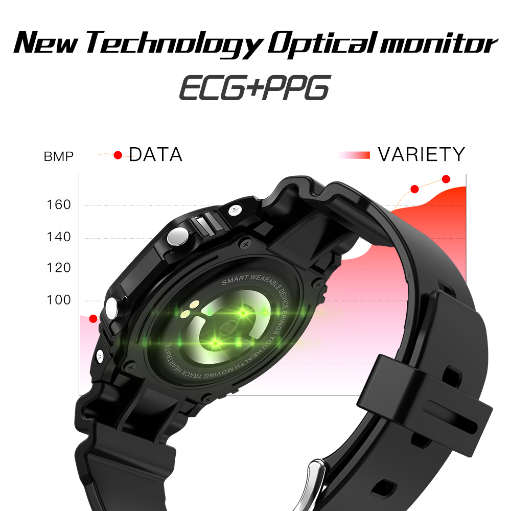 696 X12 ECG+PPG Smart Watch Ip68 Waterproof Fitness Sport Watches For Ios Android Heart Rate Monitor Blood Pressure Smartwatch