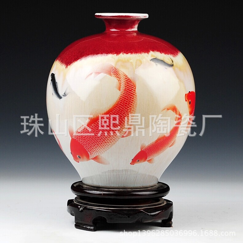 Jingdezhen kiln pottery vase crack pomegranate wholesale Home Decoration Ceramic Vase