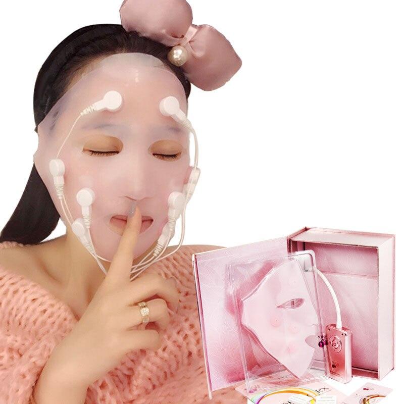 Carga de cara máscara quitar las arrugas Chin elevación de mejillas masaje vibración máscara de rejuvenecimiento de la piel masaje de belleza en spa dispositivo - 2