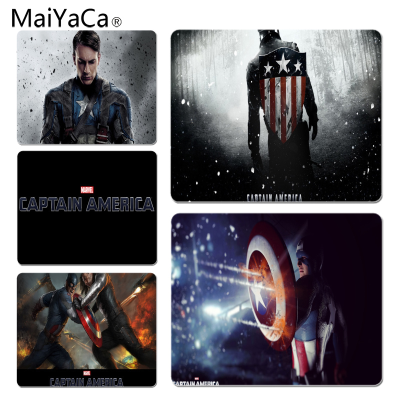 MaiYaCa Cool New Captain America Beautiful Anime Mouse Mat Size for 180x220x2mm and 250x290x2mm Rubber Mousemats