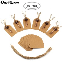 OurWarm 10/20/50pcs Vintage Key Bottle Opener Wedding Favors Party Decoration Guest Gifts Keychain Skeleton with Tag Card DIY