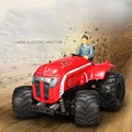 Lo nuevo de gran Control Remoto 2WD Tractor P949 1/10 Escala 2.4G rc Off-Road Buggy car Potente Motor 35 Km/h Anti-Choque Coche vs BG1513