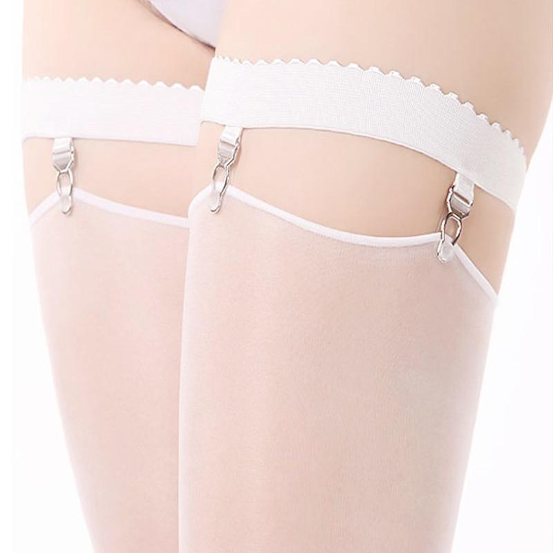Sexy podvazkový podvazkový pás, stehenní elastický podvazkový opasek pro skladování punčochy Harajuku Style Svatební Svatební podvazkový podvazek Black White