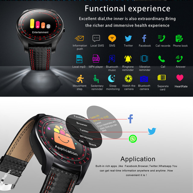 Beseneur Smart Watch V10 Support Sim Card Camera Bluetooth 3