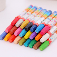 36 Colors Wax Crayon And Oil Pastel Painting Stick Plastic Crayon For Children School Office Art