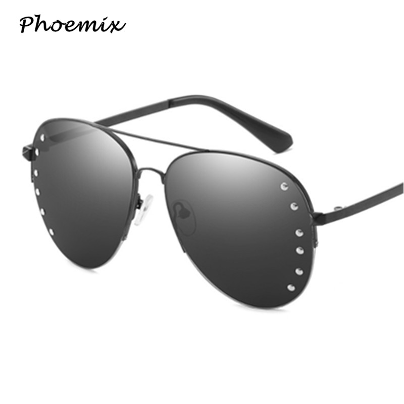 Phoemix Unisex Pilot Sunglasses Modis Rimless Oculos De
