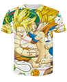 Newest Galaxy Space Anime Dragon Ball Z Goku 3d t shirts Fashion Summer Men/Boy Super Saiyan Tee Tops Clothes Short Sleeve Tees