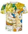 Novo Galaxy espaço Anime Dragon Ball Z Goku 3d t moda verão homens / Super Saiyan t Tops t-shirt de manga curta