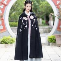 hanfu women embroidery cloak dance costume ancient chinese costume