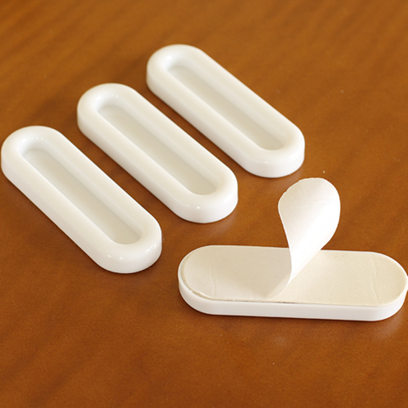 4pcs High Quality white sticky glass door handle kitchen cupboard ...
