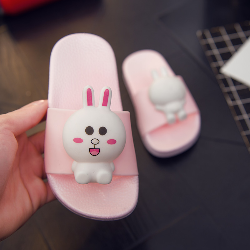 Kids Sandals Slippers Cute Bear Rabbit Baby Girl Boys Slippers Beach High Quality Children Shoes Bathroom Kids Winter Slippers
