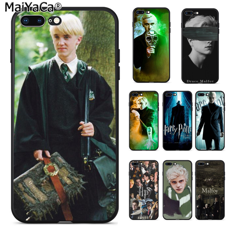 Half-wrapped Case Maiyaca Harry Potter Draco Malfoy Lovely Novelty Fundas Phone Case Cover For Apple Iphone 8 7 6 6s Plus X 5 5s Se Xs Xr Xs Max Beneficial To Essential Medulla Phone Bags & Cases