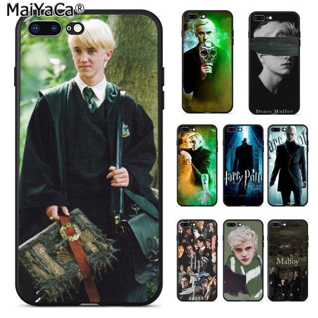 MaiYaCa Harry Potter Draco Malfoy Lovely Novelty Fundas Phone Case Cover for Apple iPhone 8 7 6