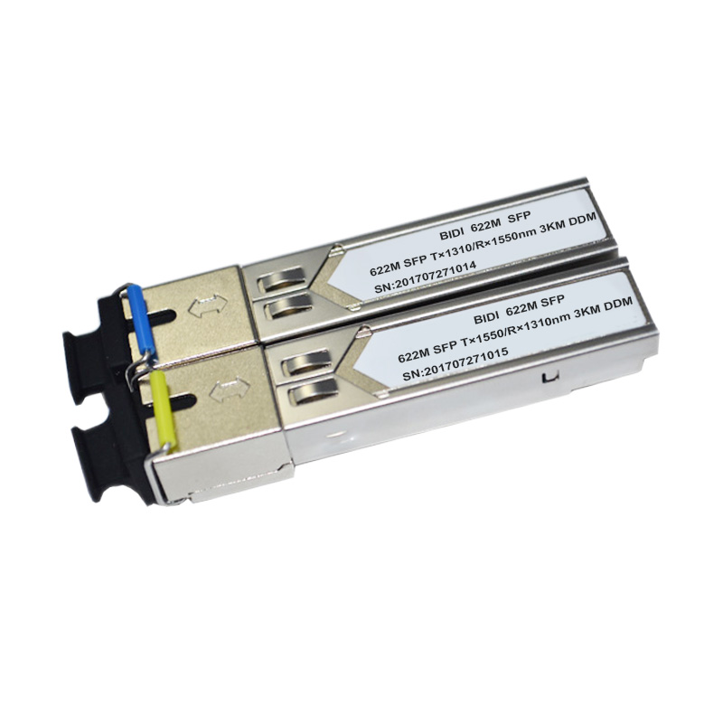 1310 1550nm 622M 3km BIDI SFP fiber Optical transceiver SFP module T1550 R1310nm