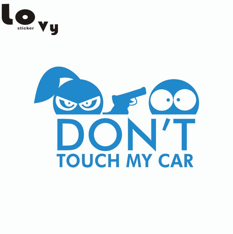 RÖR INTE MIN BIL Vinyl Bilklistermärke Rolig tecknad mönster Car - Exteriör biltillbehör - Foto 4