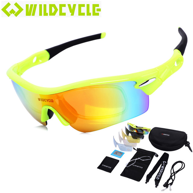 fb109879ce 2017 Wildcycle 5 lenses Polarized New Bike Bicycle Cycling Mountain  Sunglasses MTB Glasses Sport Eyewear Oculos De So