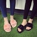 Мех слайды меховые тапочки дизайнер шлепанцы меховые сандалии тапочки с перьями женщины известный бренд слайды люксовый бренд меховой обуви