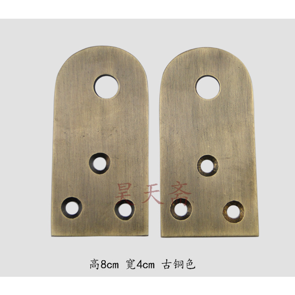 [Haotian vegetarian] Chinese antique copper door handle classic lock button nose HTA-083 antique door fittings [haotian vegetarian] antique copper door latch tie lock pin nose section hth 126 nickel alloy hammers