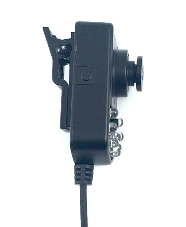 Portable clip mounted infrared night vision wearable cameras / 5V 700tvl for mobile video surveillance