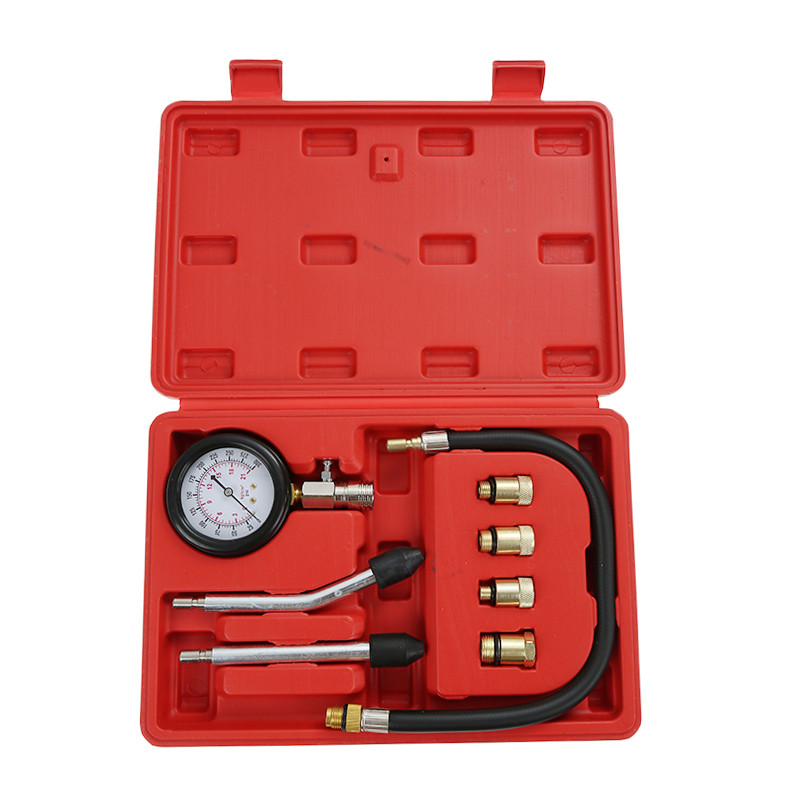 Professional Petrol Gas Engine Cylinder Compression Tester Gauge Kit Motor Auto ship from usa 2 stroke petrol gas bike engine diy bike bicycle motorize engine motor kit 26 or 28