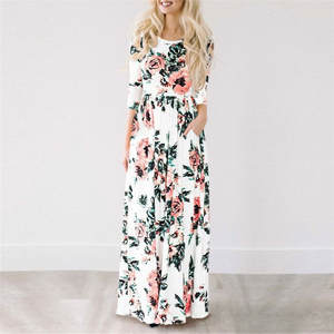 HiloRill 2018 Summer Long Beach Dress Maxi Dress Women