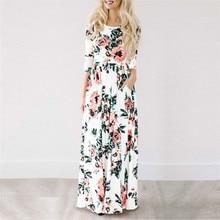 Long Dress Floral Print Boho Beach Dress Tunic Maxi Dress XXXL