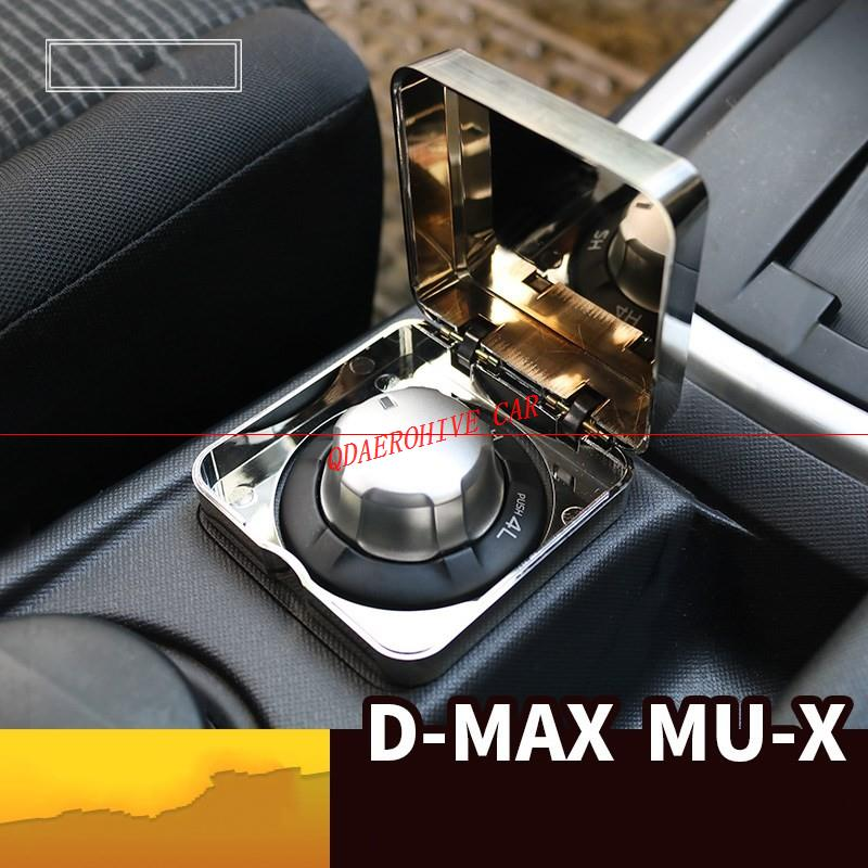 QDAEROHIVE All-wheel-drive box to protect 4WD switch cover chromium ABS Transparent Box for For Isuzu MU-X Mux 3 0T D-MAX
