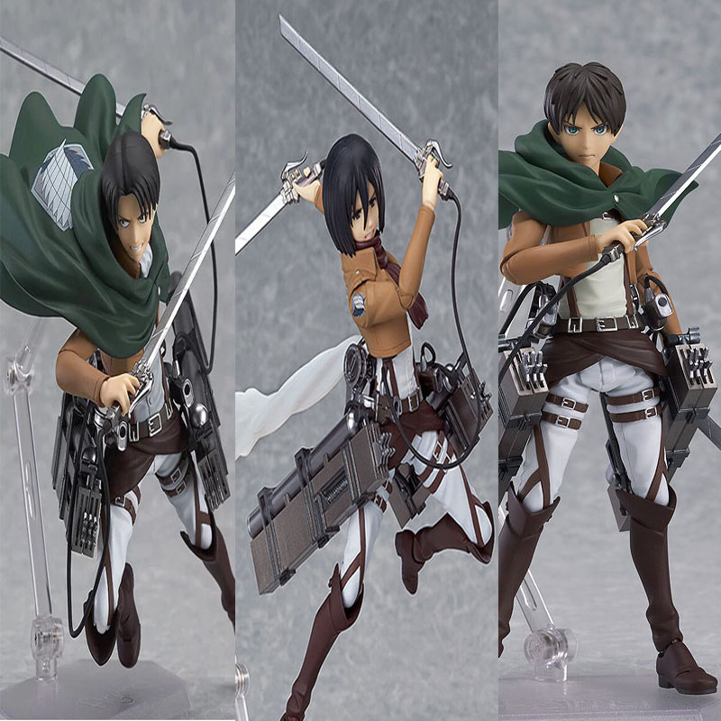 Anime Attack On Titan Mikasa PVC Action Figure Show case Display Toy Coplay Gift
