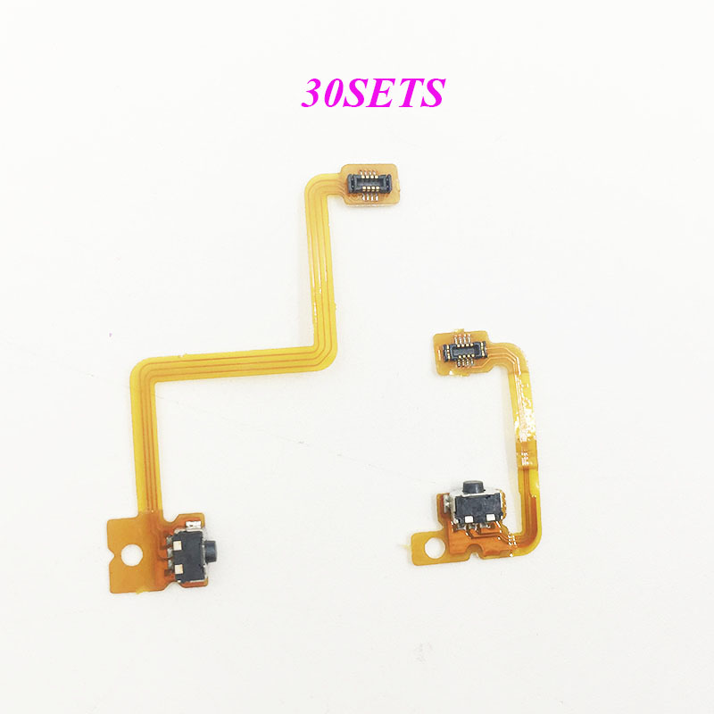30SETS Left Right Button Switch Wiring Pack LR Flex Cable for 3DS Trigger Button Ribbon Cable
