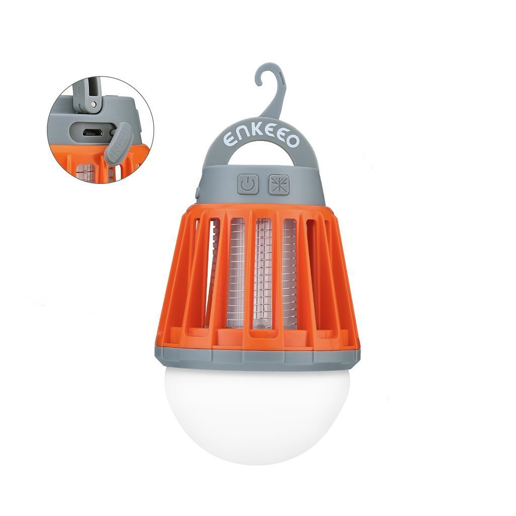Zapper Light Bulb Night Lantern USB Charging UV Lamp For Tent Camping  Outdoor Indoor Garden Yard