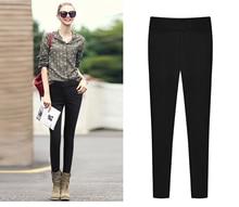 5xl plus size pants women spring autumn 2016 bermuda feminina fashion thin black skinny leggings female