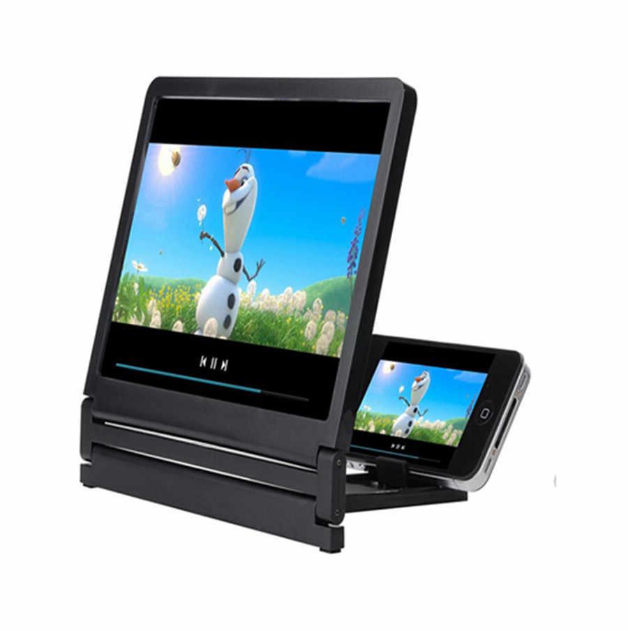 โทรศัพท์มือถือหน้าจอแว่นขยายดวงตาป้องกันจอแสดงผล 3D Video Amplifier พับขยาย Expander Stand #20