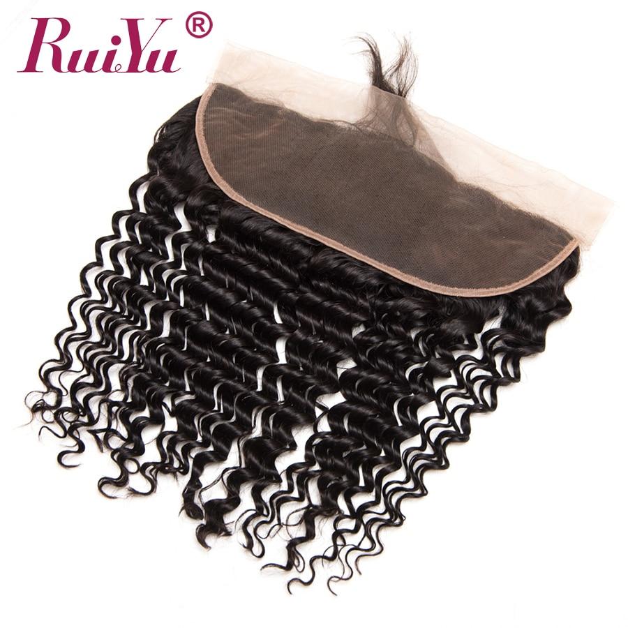 RUIYU Rambut Brazil dalam menenun Penutupan 13x4 Telinga Untuk - Rambut manusia (untuk hitam) - Foto 4