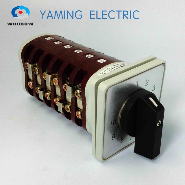 10 position rotary switch 6 pole switch cam switch changeover switch 63a bx6 welding machine Manufacturer 660v ui 10a ith 8 terminals rotary cam universal changeover combination switch