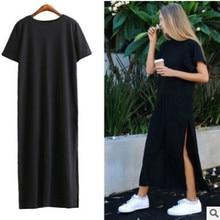 5e94a17bae312 Buy side split tshirt maxi dress and get free shipping on AliExpress.com