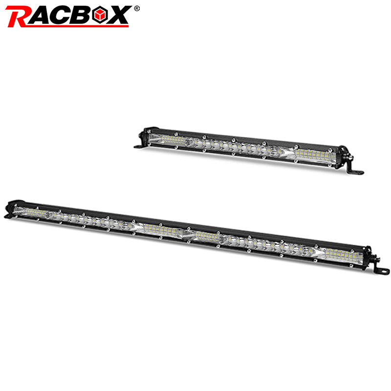 RACBOX <font><b>10</b></font> 20 inch 26 <font><b>52</b></font> Leds Led Work Light Bar Combo 4x4 Offroad Led Light Bar for Tractor Boat 4WD Trucks SUV ATV UTV UTE UAZ image