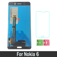 100% New Touch Screen Digitizer Assembly LCDs Display For Nokia 6 N6 TA 1000 TA 1003 TA 1021 TA 1025 TA 1033 Replacement Parts