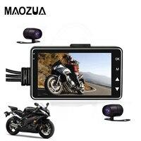 Motorcycle DVR Camera Motor Motorbike Dash Cam with Special Dual track Front Rear Recorder Dashcam