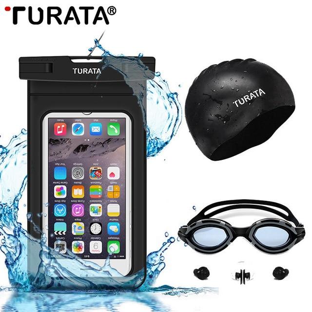 """Оригинал Turata 6.0 """"водонепроницаемый Чехол Для iPhone 5 5S 6 6 S Plus Подводный сумка Крышка Чехол Для Samsung Galaxy Note S5 S6 S7 край"""