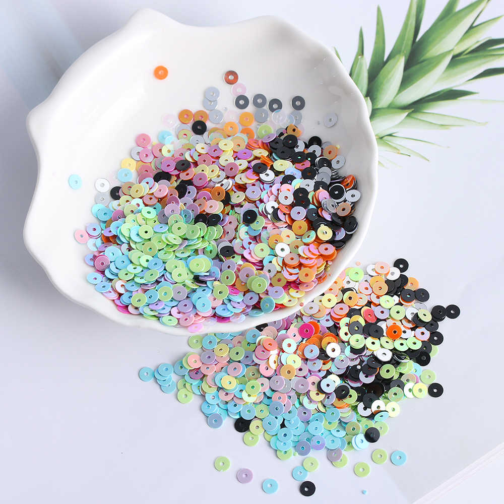 1000Pcs/Bag Multicolor 4mm Plastic Loose Sequins DIY For Home Party Wedding Decor Embellishment DIY Crafts Sewing Accessories