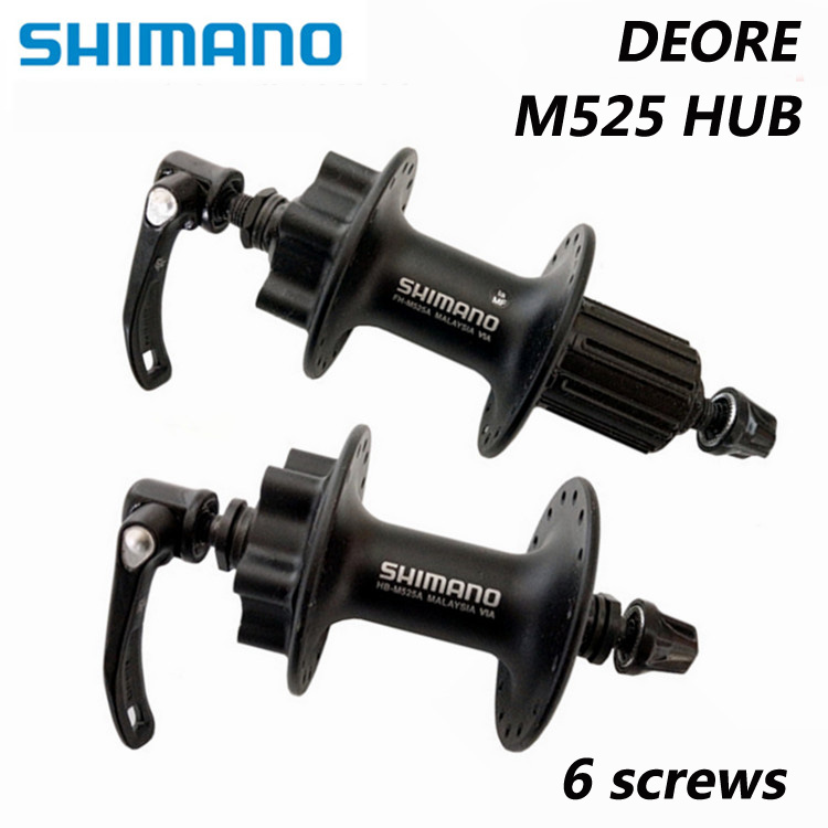 SHIMANO DEORE M525 32-hole quick release bike wheel aluminum alloy bicycle parts bicycle disc brake bearing 6 screws shimano deore br m590 v brake caliper mountain bike v brakes aluminum v brake bicycle parts bicycle br m590